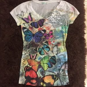 Tops - SALE 3 for $30 Rainbow Embellished T Shirt